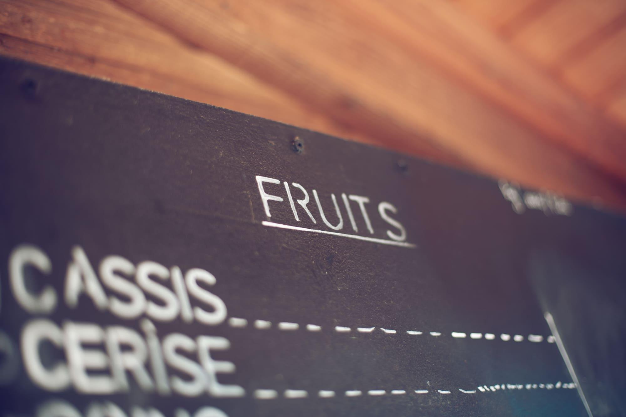 Pancarte fruits